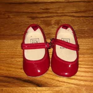 Patent red Gap Shoes for girls